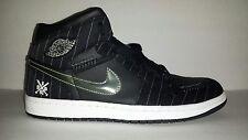 "Nike Air Jordan 1 ""Birmingham Barons Opening Day"" 2008 black sz11  325514-012"