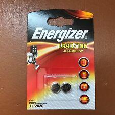 2 x Energizer LR43 1.5V Alkaline Batteries 186, AG12, V12GA, LR1142, D186A, 386