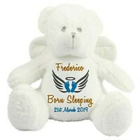 Personalised Angel Bear Teddy Remembrance Memorial Miscarriage Baby Loss Gift