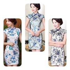 New style Chinese women's evening Short Dress Cheongsam Size L Only