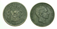pcc1587_85) SPAGNA SPAIN Alfonso XIII - 10 Centimos 1879 Barcelona  OM