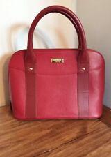 Osprey By Graeme Ellisdon Two Tone Dark Red Grained Leather Tote Handbag BNWOT