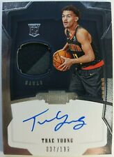 2018-19 Panini Dominion Trae Young Auto 2 Color Jersey #180, #'d /199, On Card