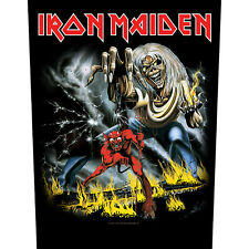IRON MAIDEN RÜCKENAUFNÄHER BACKPATCH # 6 THE NUMBER OF THE BEAST 36x29cm PATCH