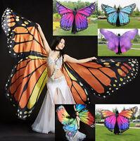 New 2018 Butterfly Belly Dance Costume 360°Isis Wings Egyptian Dance Wear