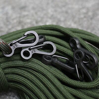 10pcs/set Climbing Hiking Rope Carabiner Spring Buckle Snap Clip Hook Keychain