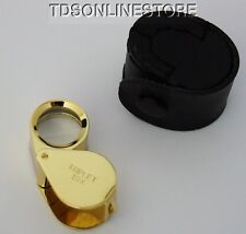 Triplet 10x Gold Finish Loupe With Case