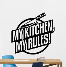 My Kitchen My Rules Wall Decal Knife Vinyl Sticker Art Decoration Mural 245xxx