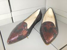 NEW Amalfi Slip On Black & Maroon Lace print flats Loafters sz. 9.5 M