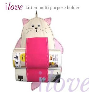ilove cute kitten magazine or toilet rolls hanging holder