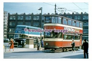 gw0072 - Leeds Tram 160 at Central Bus Station in 1959 - photograph 6x4
