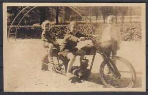 Beautiful Ak Children on The Motorcycle 1962, Playground