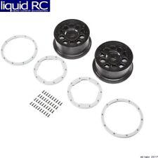 Losi 45015 Wheel Black; Beadlock Silver 2 : DBXL-E