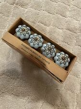 Furniture Cabinet Knobs Set Of 4 New Nwt Blue Bronze Like Anthro