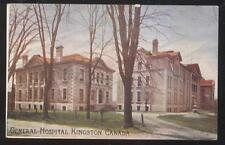 POSTCARD KINGSTON CANADA GENERAL HOSPITAL BUILDING #2 VIEW 1910'S