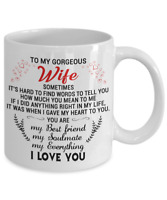 To My Gorgeous Wife Coffee Mug Gift From Husband I Love You My Soulmate Cup