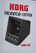 Aufkleber KORG Monitor-Center MM-25 Keyboard Amplifier aktivBox 80er Sticker