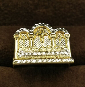 10K Yellow Gold Last Supper Ring Mens Last Supper Gold Ring