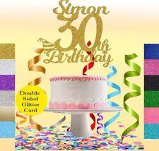 CUSTOM Glitter Cake Topper Personalised 16th,18th,21st,40th,50,60,30th Birthday