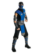 Mens Sub Zero Mortal Combat Deluxe Costume Std