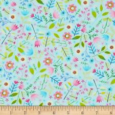 Elephant Showers Multi Floral Cotton Fabric Timeless Treasures Bfab