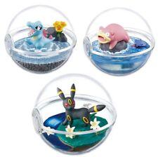 Pokemon Terrarium Action Figure Toy Plush Totodile Slowpoke Umbreon Pokeball