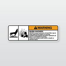 Machinery Safety Sticker: Burn Hazard (Sumitomo, Yanmar, Caterpillar)