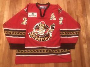 Steve Martins GAME WORN 05/06 Binghamton Senators RED Jersey AHL