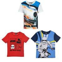Boys star wars Official Licenced T shirts Short Sleeve