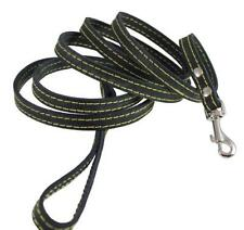 Genuine Leather Dog Leash 1/2 Wide 6 Ft, Small Breeds NEW, Free Shipping
