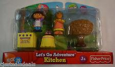 Dora the Explorer Nick Jr Fisher Price Let's Go Adventure Kitchen 5 Piece Pack