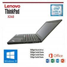 Lenovo Thinkpad X240 Core i5 4300U 4-8GB Windows 10/7  SSD HDD OFFICE