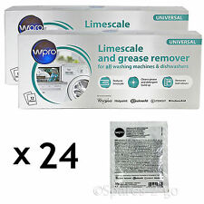 INDESIT Washing Machine Limescale Descaler Detergent Remover 24x50g 2 Pack