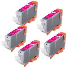 5 Magenta Ink Cartridge + smart chip for CLI-8 CLI-8M MP500 MP530 MP600 MP610