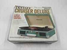 Open Box Crosley Cruiser Delux 3 Speed Portable Turntable Bluetooth - JA0576