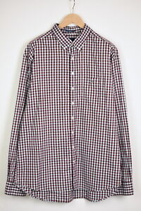 GANT HEATHER PINPOINT OXFORD REGULAR Men's XXX LARGE Checked Shirt 35922_GS