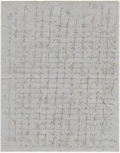 1858 Calais, Maine Cross-Written Letter - California Steamboat Content