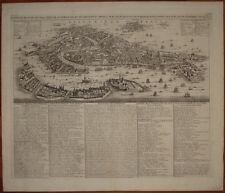 Stampa antica Venezia Chatelain 1710 veduta view venice old print kupferstich