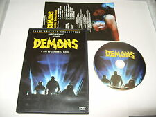 Demons Dario Argento dvd 1999 - Region 2 Excellent condition