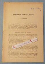 Docteur Edouard TOULOUSE L'expertise psychiatrique Livret > signature autographe