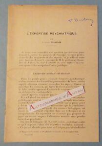 ♦ Docteur Edouard TOULOUSE L'expertise psychiatrique signature autographe