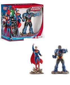 2 FIGURINES 10 CM SCHLEICH PVC NEUVES DC JUSTICE LEAGUE Superman Vs Darkseid