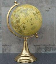 World Globe Vintage Cream Rotating Atlas Home Decor Office Ornament 32cm Tall