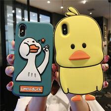 Pato Amarillo 3D Caja del Teléfono para iPhone XS Max 4 5 6 7 8 Huawei Vivo Xiaomi 8 Oppo