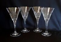 Towle Crystal Reflections Pattern Cut Glass Water Goblets Glasses ~ Set of 4
