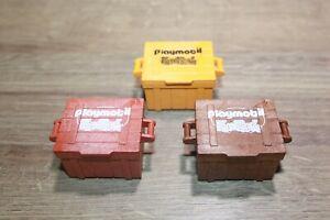Playmobil 3 Kisten Boxen Schatzkiste mit Aufdruck Fun Park selten RAR