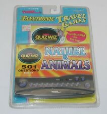 Tiger Electronic Travel Games Quiz Wiz Nature & Animals Sealed