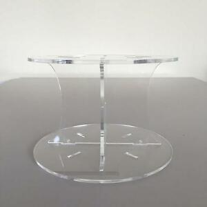 "Plain Round Clear Gloss Cake Pillars/Separators (Weddings/Parties) 6""-12"""