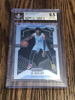 2019-20 Prizm Ja Morant BGS 9.5 Gem Mint RC Grizzlies Rookie #249