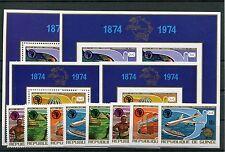 Guinea 700/02 Block 35/36 je A + B postfrisch/ Eisenbahn - UPU - Weltraum 1/2622